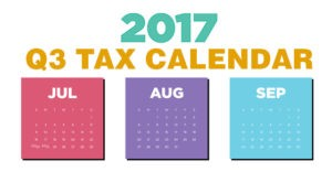 2017 3rd Quarter Tax Due Dates